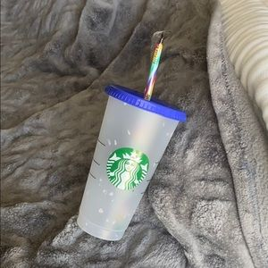Starbucks color-changing reusable confetti cup